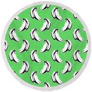 Green Bananas- Art By Linda Woods Round Beach Towel by Linda Woods
