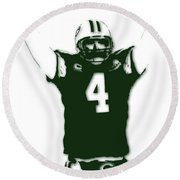 Green Bay Packers Bret Favre 3 Round Beach Towel
