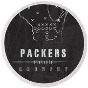 Green Bay Packers Art - Nfl Football Wall Print Round Beach Towel