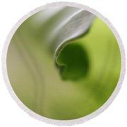Green Chakra Round Beach Towel