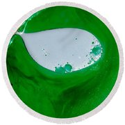 Green Chemicals Abstract Round Beach Towel