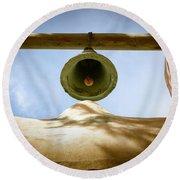 Green Church Bell Round Beach Towel