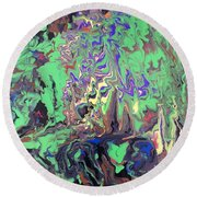Twilight Forest Round Beach Towel