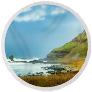 Green Giant Round Beach Towel