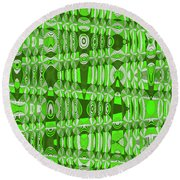 Green Heavy Screen Abstract Round Beach Towel