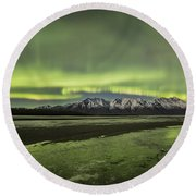 Green Ice Round Beach Towel