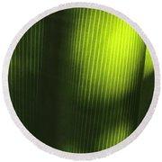 Green Illusions Round Beach Towel