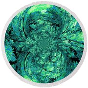 Green Irrevelance Round Beach Towel