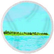 Green Island Round Beach Towel