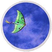 Green Kite Round Beach Towel