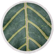 Green Structures Round Beach Towel