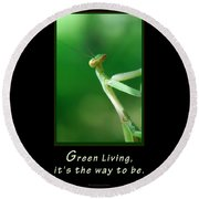 Green Living Round Beach Towel