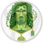 Ivy Green Man Round Beach Towel