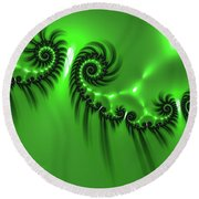 Green Mystery Round Beach Towel