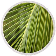 Green Palm Leaf Round Beach Towel