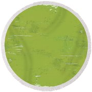 Green Punch Round Beach Towel