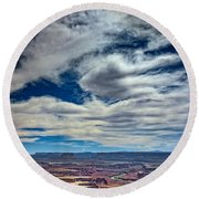 Green River Overlook Round Beach Towel