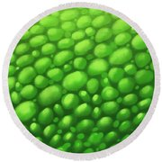 Green Scales Round Beach Towel