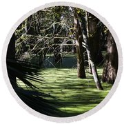 Green Swamp Near Camps Canal Round Beach Towel