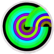 Green Targets Round Beach Towel
