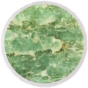 Green Turtiuus Round Beach Towel
