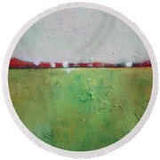 Green Valley Round Beach Towel