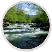 Greenbrier River Scene Round Beach Towel