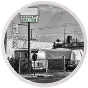Greenlees Drug Store Round Beach Towel