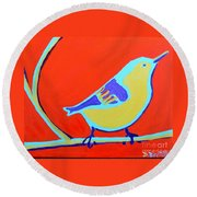 Greenough Nuthatch Round Beach Towel