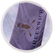 Greenwich Flag Round Beach Towel