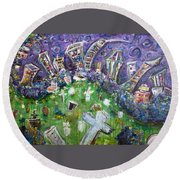 Greenwood Graveyard Brooklyn Round Beach Towel