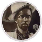 Gregory Isaacs Round Beach Towel