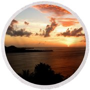 Grenadian Sunset  II Round Beach Towel