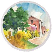 Greve In Chianti In Italy 01 Round Beach Towel
