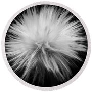 Grey Hairs Round Beach Towel