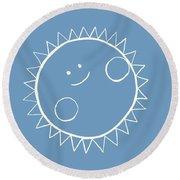 Grey Sun Round Beach Towel
