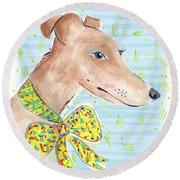 Greyhound Round Beach Towel