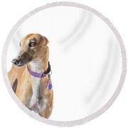 Greyhound Rescue Round Beach Towel