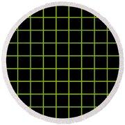 Grid Boxes In Black 09-p0171 Round Beach Towel