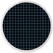 Grid Boxes In Black 18-p0171 Round Beach Towel