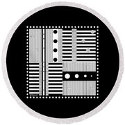 Grid Formal Attire Round Beach Towel