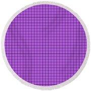 Grid In Black 30-p0171 Round Beach Towel