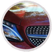 Grille  And Headlight  Round Beach Towel