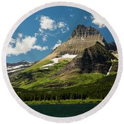 Grinell Mountain Round Beach Towel