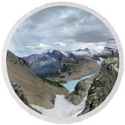 Grinnell Glacier Overlook - Glacier National Park Round Beach Towel