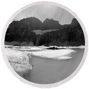 Grinnell Glacier Panorama Round Beach Towel