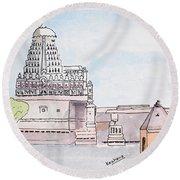 Grishneshwar Jyotirling Round Beach Towel
