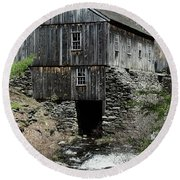 Grist Mill At Moore State Park Round Beach Towel