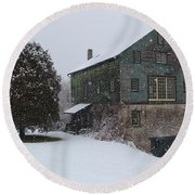 Grist Mill Of Port Hope Round Beach Towel
