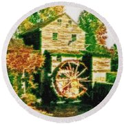 Grist Mill Tranquility Round Beach Towel